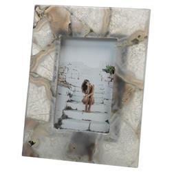 Melrose Modern Classic Ivory Chalcedony Photo Frame - Small | Kathy Kuo Home