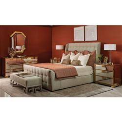 Mercer Modern Classic Bedroom Set - Queen | Kathy Kuo Home