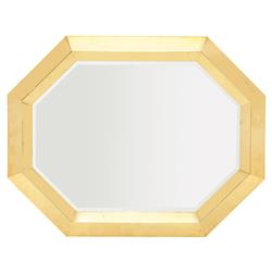 Mercer Polished Gold Octagon Steel Modern Mirror | Kathy Kuo Home