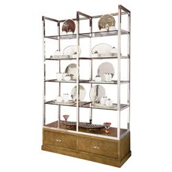 Mercer Stainless Steel Ash Wood Display Case | Kathy Kuo Home