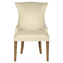 Mercer Upholstered Ivory Modern Wing Chair - Pair | Kathy Kuo Home