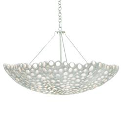 Meri Oly Frost White Bowl Chandelier - 30D | Kathy Kuo Home