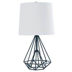 Meridian Industrial Loft Cage Metal Black Table Lamp - Small | Kathy Kuo Home