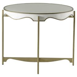 Merle Regency Seagrass Gold Wave End Table | Kathy Kuo Home