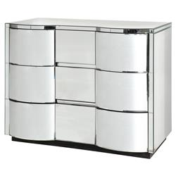 Mervin Modern Curved Art Deco Mirrored Dresser | Kathy Kuo Home