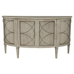 Michaela French Country Quartered White oak 4 Door Sideboard | Kathy Kuo Home