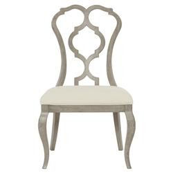 Michelle French Country Modern Grey Carved Side Chair - Pair | Kathy Kuo Home