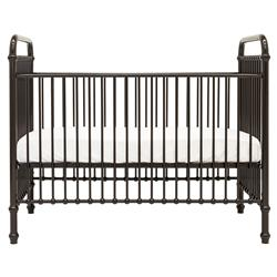 Mickie Modern Classic Polished Brown Metal Crib | Kathy Kuo Home