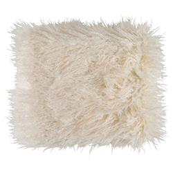 Milla Regency Faux Fur Textured Ivory Throw Blanket | Kathy Kuo Home