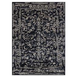 Mina Hollywood Regency Black Scroll Rug - 3'7x5'7 | Kathy Kuo Home