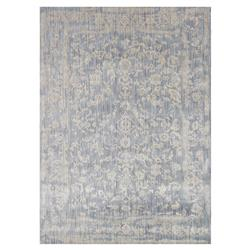 Mina Hollywood Regency Powder Blue Scroll Rug - 3'7x5'7 | Kathy Kuo Home