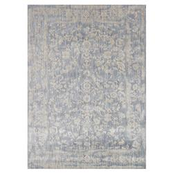 Mina Hollywood Regency Powder Blue Scroll Rug - 7'10x10'10 | Kathy Kuo Home