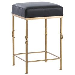 Miri Regency Black Leather Brass Knot Counter Stool | Kathy Kuo Home  sc 1 st  Kathy Kuo Home & Designer Bar u0026 Counter Stools - Eclectic Bar u0026 Counter Stools ... islam-shia.org