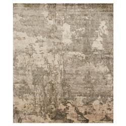 Modern Marbled Lustrous Grey Silk Rug - 5'6x8'6 | Kathy Kuo Home