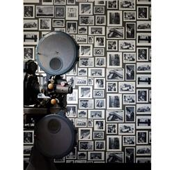 Modern Studio Photograph Gallery Wallpaper - Charcoal - 3 Rolls | Kathy Kuo Home