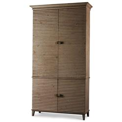 Mona Modern Classic Rustic Pine Corrugated Cabinet | Kathy Kuo Home