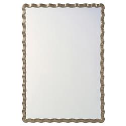 Montebello Modern Classic Silver Leaf Rectangular Wall Mirror | Kathy Kuo Home