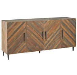 Montserrat Rustic Mid Century Lodge Reclaimed Wood Credenza Sideboard