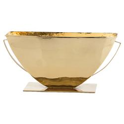 Monumental Hammered Brass Urn Decorative Centerpiece Bowl | Kathy Kuo Home