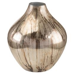 Moonlit Shadow Global Antique Silver Vase | Kathy Kuo Home
