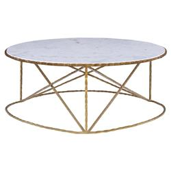 Mr. Brown Hollywood Regency Forged King's Gold Giotti Coffee Table | Kathy Kuo Home