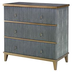 Mr. Brown Hollywood Regency Ludwig Dark Grey Chest | Kathy Kuo Home