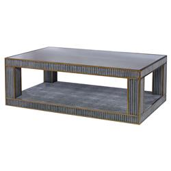 Mr. Brown Hollywood Regency Ludwig Dark Grey Coffee Table | Kathy Kuo Home