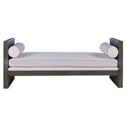 Mr. Brown Hollywood Regency Ludwig Dark Grey Day Bed | Kathy Kuo Home