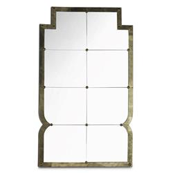 Mr. Brown Hollywood-Regency Gold Domenico Mirror | Kathy Kuo Home
