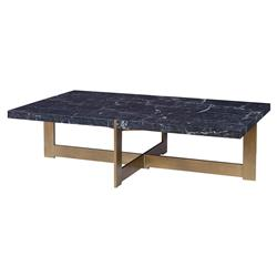 Mr. Brown Industrial Loft Peterson Black Marble Coffee Table | Kathy Kuo Home
