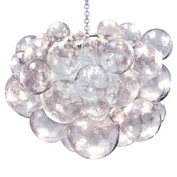 Muriel Clear Bubbled Silver Oly Chandelier | Kathy Kuo Home