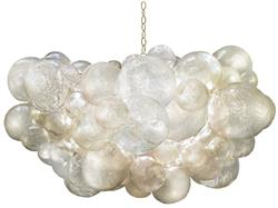 Muriel Cloud Clear Bubbled Oly Chandelier | Kathy Kuo Home