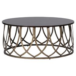 Nadia Global Bazaar Brass Petal Coffee Table | Kathy Kuo Home