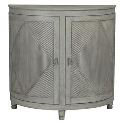 Nazaire Coastal French Demilune Console Cabinet | Kathy Kuo Home