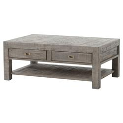 Neibolt Rustic Lodge Dark Grey Reclaimed Wood Rectangular Storage Coffee  Table | Kathy Kuo Home