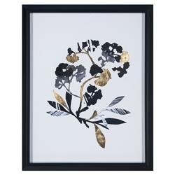 Nenet Paper Shadows Hollywood Regency Gold Foil Floral Print | Kathy Kuo Home