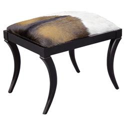 Neta Oly Black Saber Goat Hide Bench | Kathy Kuo Home