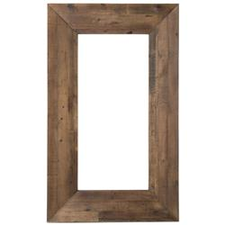 Nevada Rustic Lodge Natural Reclaimed Wood Wall Mirror | Kathy Kuo Home