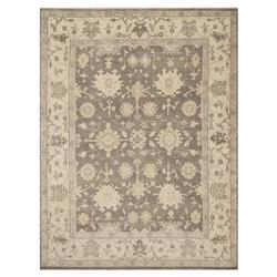 Nigel French Smoke Grey Oushak Fine Wool Rug - 7'9x9'9 | Kathy Kuo Home