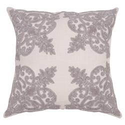 Noble French Regency Lilac Velvet Finial Pillow - 22x22 | Kathy Kuo Home
