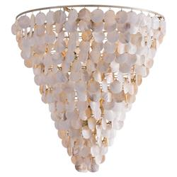 Nolan Coastal Beach Capiz Shell Chandelier | Kathy Kuo Home