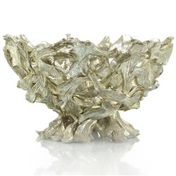 Novalie Modern Classic Antique Silver Twisted Branch Bowl | Kathy Kuo Home