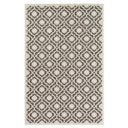 Octavia Global Ivory Black Trellis Outdoor Rug - 4'7x6'7 | Kathy Kuo Home