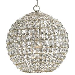 Odelia Hollywood Regency Cut Crystal Globe Pendant | Kathy Kuo Home