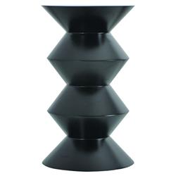 Oly Studio Boo Boo Modern Classic Black Stacked Wood Side End Table | Kathy Kuo Home