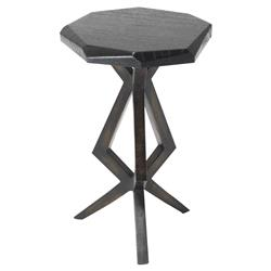 Oly Studio Chance Modern Classic Black Top Geometric Side End Table - Medium | Kathy Kuo Home