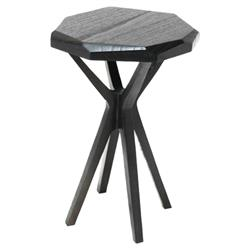 Oly Studio Chase Modern Classic Black Side End Table - 16D | Kathy Kuo Home