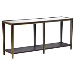 Oly Studio Christine Hollywood Regency Mirror Top Gold Accent Wood Console Table | Kathy Kuo Home