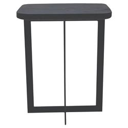 Oly Studio Cruz Industrial Loft Black Cement Top Iron Side End Table - Small | Kathy Kuo Home