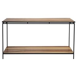 Oly Studio Niall Industrial Loft Iron Base Console Table - Small | Kathy Kuo Home